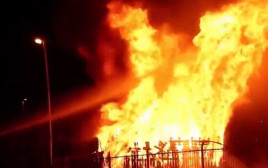 שריפת דגלי ישראל בצפון אירלנד