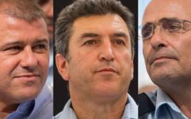 """המועמדים לתפקיד המפכ""""ל: משה צ'יקו אדרי, דוד ביתן, יורם הלוי"""