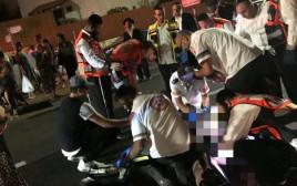 זירת  התאונה בבית שמש