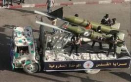 הטיל החדש של הג'יהאד האסלאמי בעזה
