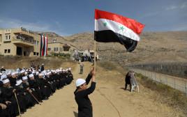 הפגנת התמיכה של הדרוזים באסד, סמוך לגדר הגבול