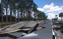 כבישים שנהרסו בפלורידה במהלך ההוריקן