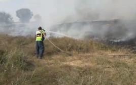 אירוע שריפה בעוטף עזה