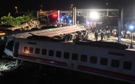 תאונת רכבת מחרידה בטאיוואן
