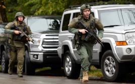 """זירת אירוע הירי ב""""קהילת עץ החיים"""" בפיטסבורג"""