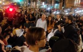 מחאת תושבי עוטף עזה בתל אביב