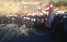 מחאת הדרוזים במג'דל שמס נגד הבחירות המקומיות
