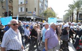מחאת הגמלאים בתל אביב