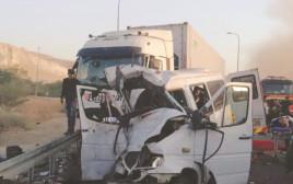 תאונה בכביש הבקעה