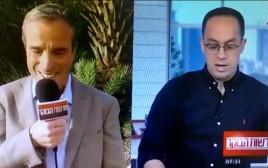 שטרן במהלך הראיון בערוץ 12