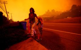 נמלטים מהאש בקליפורניה