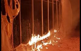 שריפת החממה בעוטף עזה