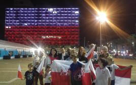 """דגל פולין על בניין העירייה בת""""א"""