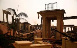 נזקי שריפת הענק בקליפורניה
