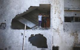 בניין שהופצץ בעזה