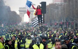 הפגנה בפריז נגד עליית מחירי הדלק