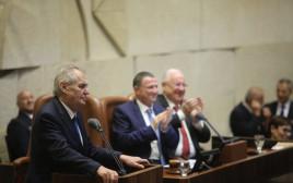 נשיא צ'כיה מילוש זמאן במליאת הכנסת
