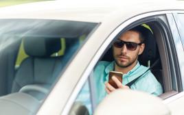 שימוש בטלפון נייד בזמן נהיגה, צילום אילוסטרציה