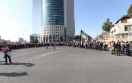 מחאת הנשים בצומת עזריאלי בתל אביב