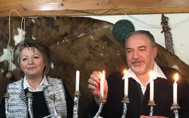 ליברמן באירוע הדלקת הנרות