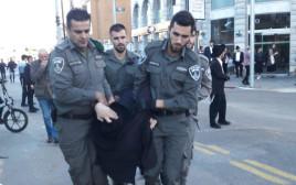 מעצר חרדי בהפגנת הפלג הירושלמי בבני ברק