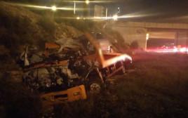 פיצוץ משאית בכביש 5