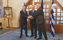הרצוג עם סגן שר החוץ היווני ונציב התפוצות של קפריסין