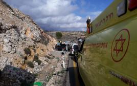 זירת פיגוע הירי סמוך לגבעת אסף