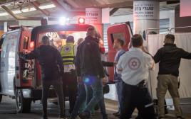 פינוי הפצועים של פיגוע הירי בגבעת אסף