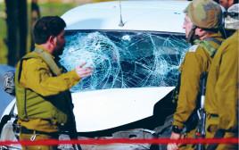 זירת פיגוע באזור חברון, לפני כשבועיים