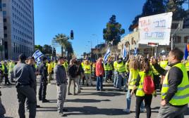 """מחאת """"האפודים הצהובים"""" בישראל"""