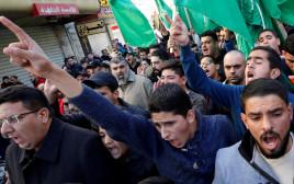 הפגנה של חמאס בשכם