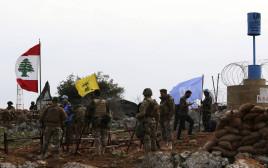 "חיילי צבא לבנון וחיילי יוניפ""יל בגבול הצפון"