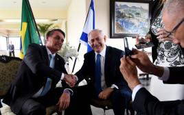ראש הממשלה בנימין נתניהו ונשיא ברזיל, ז'איר בולסונארו
