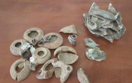 פריטי עתיקות גנובים שנתפסו