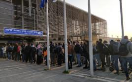 התור בתחנת האוניברסיטה בבאר שבע