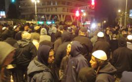 """הפגנה של פעילי ימין מול בית רה""""מ בירושלים"""
