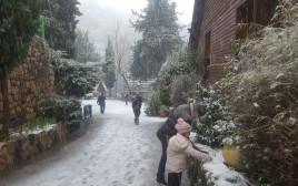 שלג בצפון הגולן