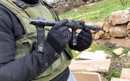 נשק מאולתר שבאמצעותו בוצע הירי לעבר מגדל עוז