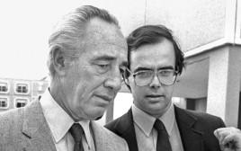 שנת 1985 אורי סביר, שמעון פרס