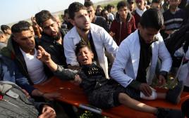ילד פלסטיני שנמצא בעימותים ברצועה
