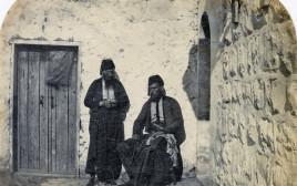 צ' פ' טירוויט דרייק, דיוקן א' ה' פלמר (עומד) וצ' פ' טירוויט דרייק (יושב), ירושלים, 1870, הדפס אלבומי