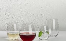 כוסות יין בלי רגל