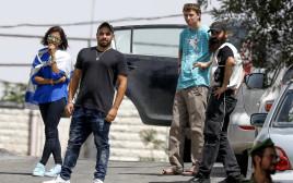 אלאור אזריה בביקור בחברון בחודש יולי