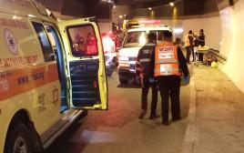 """תאונת דרכים במנהרת צה""""ל בירושלים"""