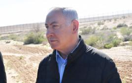 בנימין נתניהו בגבול ישראל-מצרים