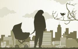איור: אמא ותינוק