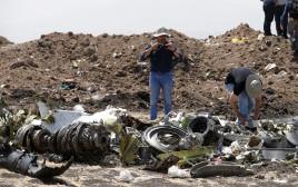 זירת התרסקות המטוס באתיופיה