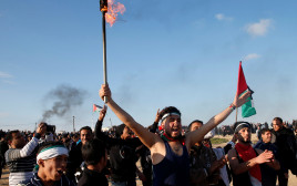 הפגנה בעזה