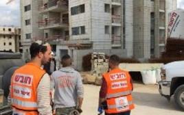 אתר הבניה בו נפלו שני הפועלים